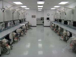 Dental school simulation labs to practice