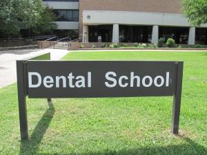 Dental School sign in San Antonio