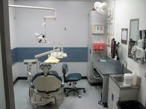 Here is a dental chair during my third year in dental school